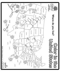 us map color print and color us map coloring page social studies