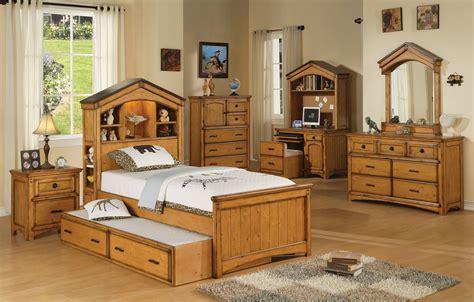 rustic oak bedroom furniture 1 586 acme tree house bedroom set in rustic oak 866 730