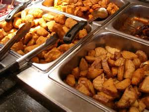 Table Lunch Buffet Price Potato Wedges Chicken Nuggets Quot Mid Town Bu