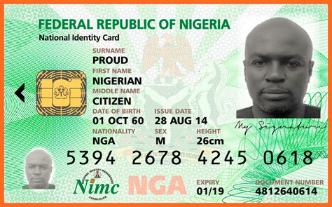 national id card template list of nigeria official recognized national id cards