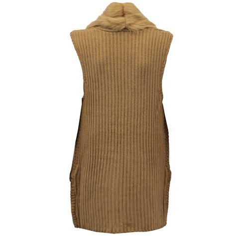 knitted gilet womens gilet threadbare womens knitted bodywarmer open