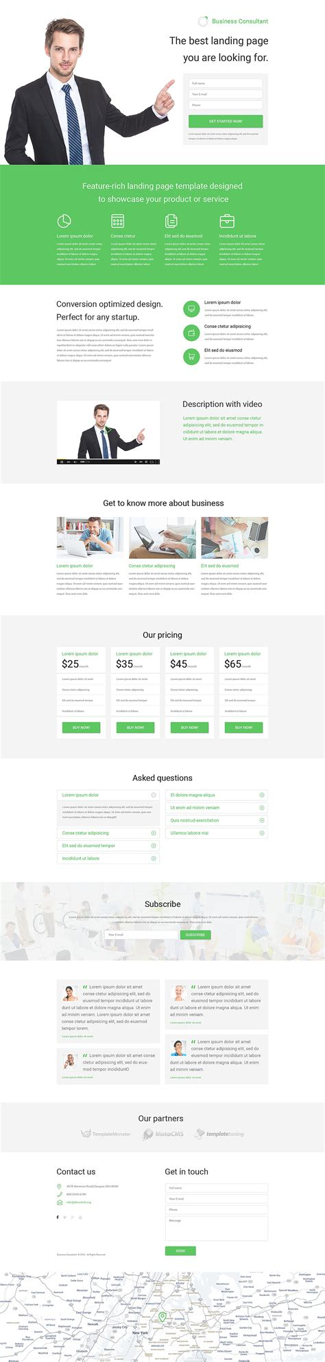 Business Responsive Landing Page Template 53788 Business Landing Page Template