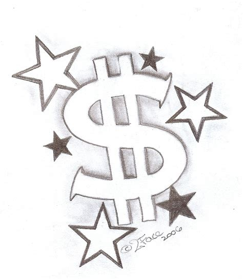 money sign tattoos tattooflash dollar with by 2face deviantart