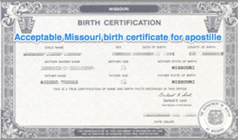 Missouri Birth Certificate Records Missouri Apostille Apostille Service By Apostille Net