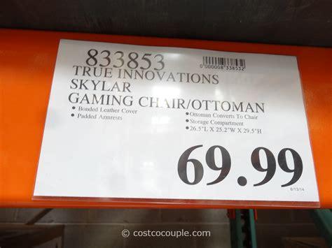 gaming storage ottoman costco true innovations skylar gaming chair ottoman