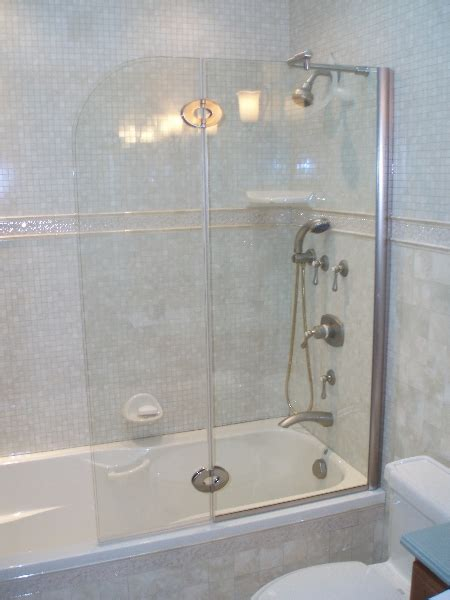 Half Glass Shower Doors Half Glass Shower Door For Bathtub Half Glass Door Midcentury Bathroom San Francisco By Bill