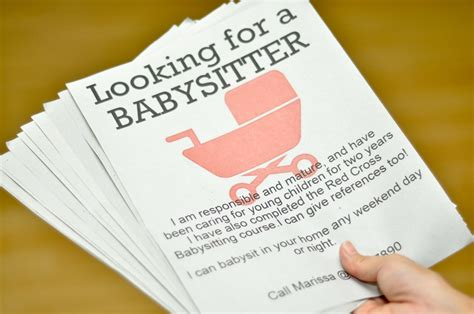 How To Make An Advertisement On Paper - babysitting cliparts co