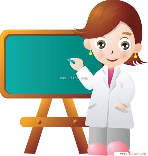 imagenes animadas de maestros y alumnos 卡通人物 女教师矢量图 卡通矢量图 三联