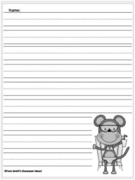 monkey writing paper classroom freebies