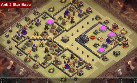 coc layout th9 anti gowipe clash of clans th9 war base anti 2 star