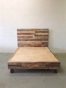 Tall Bed Frame Full Reclaimed Wood Platform Bed Base Pallet Natural Twin By