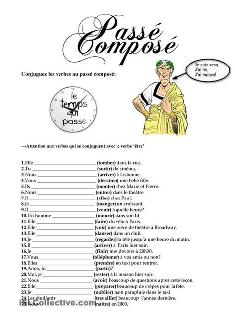 Passe Compose With Avoir Worksheet by Le Pass 233 Compos 233 Student Centered Resources Fle And