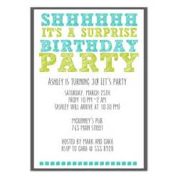 surprise birthday party invitations amp cards on pingg com