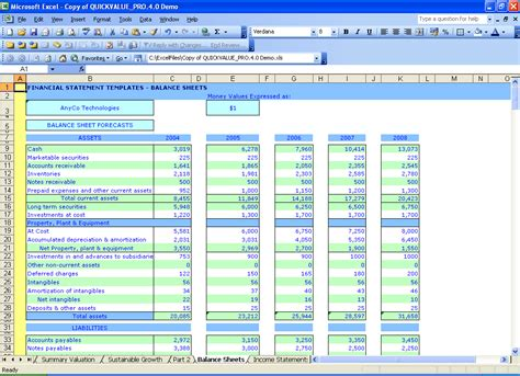 Balance Sheet Template Excel by Best Photos Of Balance Sheet Template Exle Balance