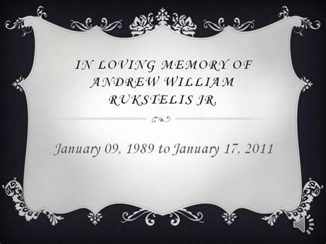 In Loving Memory Of Authorstream Memory Template Powerpoint