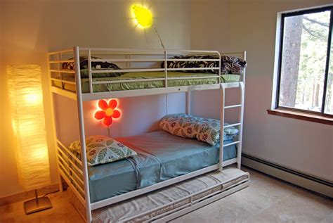Bunk Bed Rental Bunk Bed With 2 Beds And A Third Pull Out Bed For Or Playful Adults At This Lake Tahoe