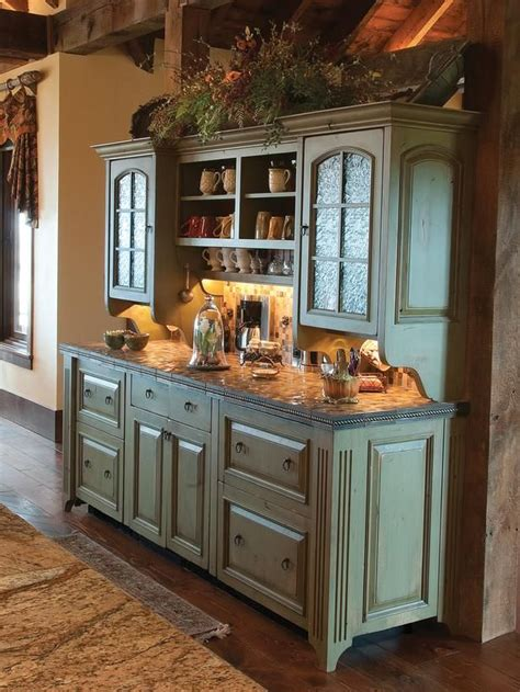 rustic green kitchen cabinets 25 best ideas about buffet cabinet on pinterest