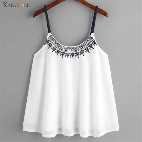 Embroidery Vest Shirt vest shirt camis embroidered tops summer