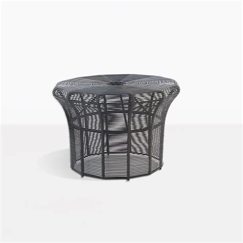black patio side table poppi small outdoor side table in black patio furniture
