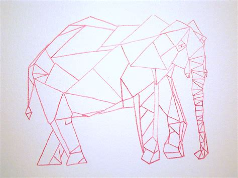 how to draw cubism an elephant a day elephant no 262 cubism