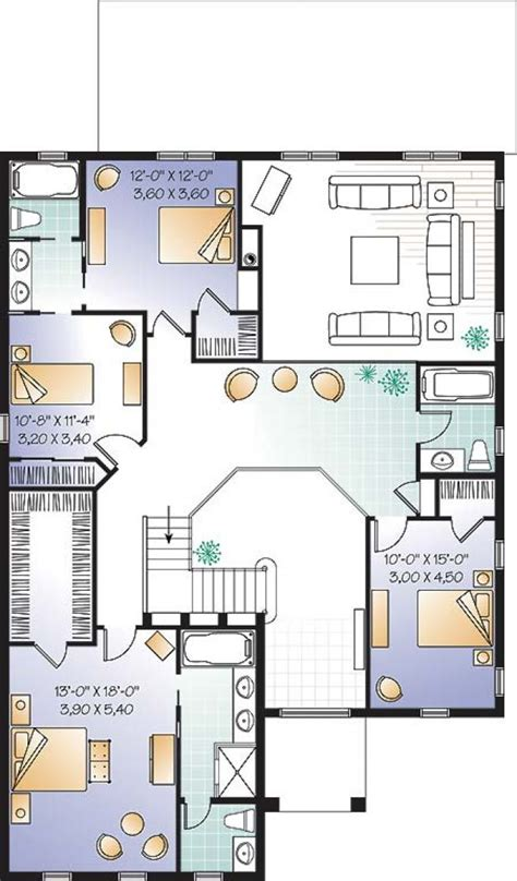 Mezzanine Floor Plan House d 233 tail du plan de maison unifamiliale w3860