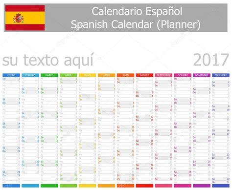 calendar planner july 2017 stock vector illustration of 2017 spanish planner calendar with vertical months stock