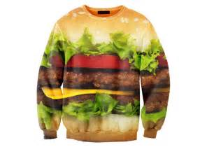 Garage Doors Designs hamburger sweater the green head