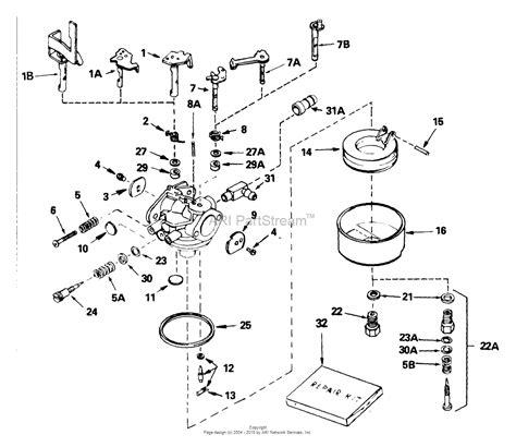 tecumseh engine carburetor diagram tecumseh ca 632225 parts diagram for carburetor