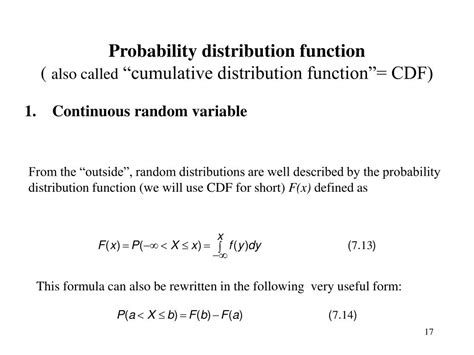 probability distribution function ppt lecture 7 distributions probability density and