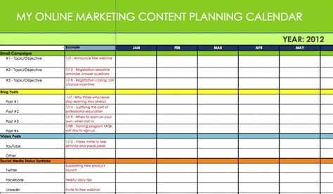 free marketing calendar template calendar template 2016