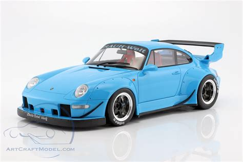 rwb porsche blue porsche 911 993 rwb light blue gt spirit gt167 ean