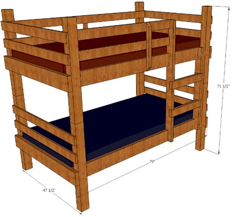 Build A Futon by Rustic Bunk Bed Plans You Can Build These Bunks