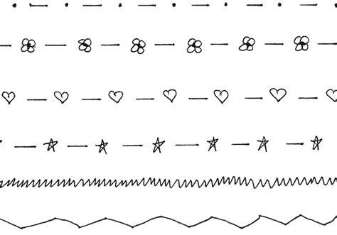 free doodle line brushes doodle borders 1 free photoshop brushes at brusheezy