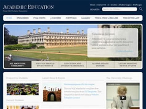 academic education free website template free css