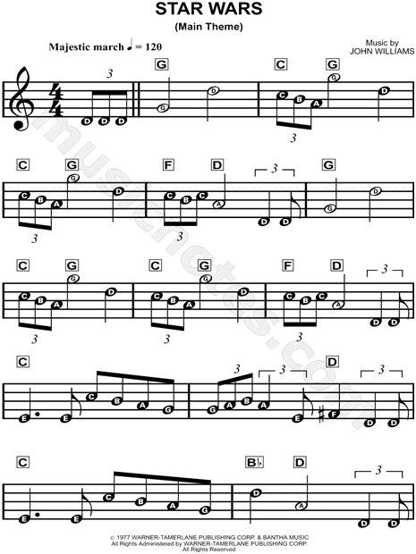 theme c names quot star wars main theme quot from star wars sheet music for