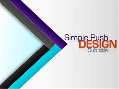 simple push design a powerpoint template from