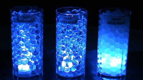 Tall Clear Vases Wholesale 3led Submersible Lights Blue Amp Blyss 174 Water Beads Youtube