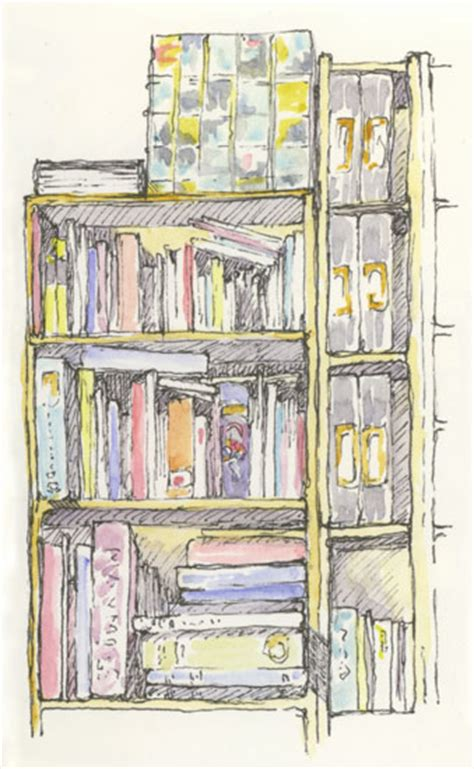 bookshelf sketch the bookcase sketching and sketchbooks