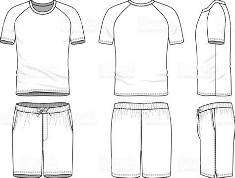 vector clothing templates vector templates of blank tshirt and shorts stock vector