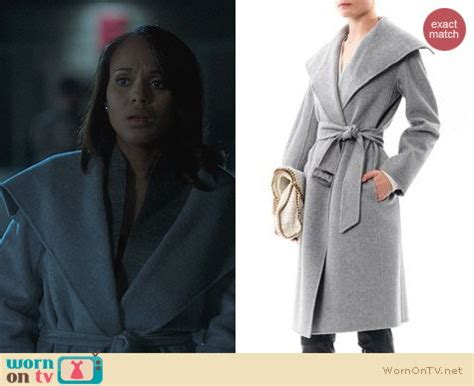 Pope Wardrobe Grey Coat by Wornontv Olivia S Grey Shawl Collar Coat On