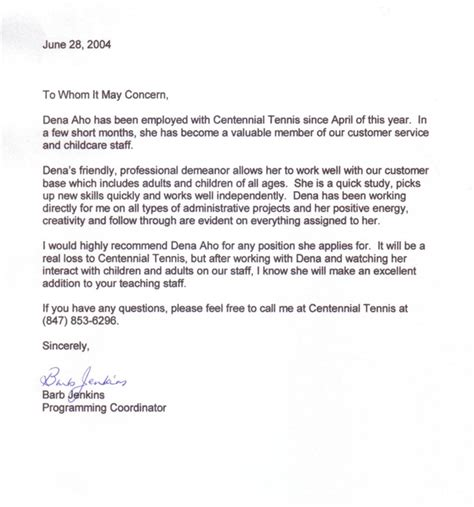 letter of recommendation format sample recommendation letter