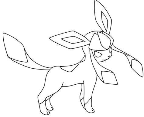 pokemon coloring pages lillipup disegno di glaceon da colorare gratis pokemon