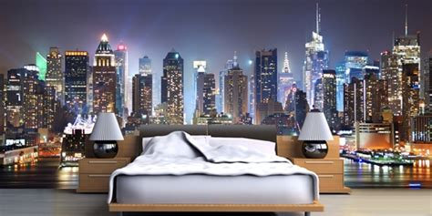 nyc bedroom custom wallpaper murals for home office eco friendly
