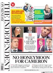 sunday independent sports section uk newspaper front pages for sunday 10 may 2015