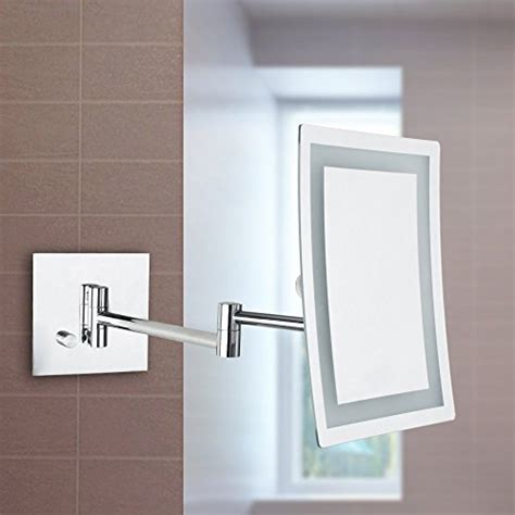 wall mounted makeup mirror rectangular 3x in wall mirrors alhakin makeup mirror 3x magnification square wall mounted
