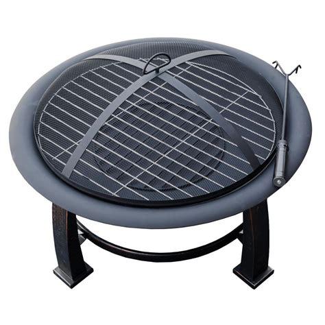 Az Patio Heaters 30 In Wood Burning Firepit In Black Ft Wood Burning Patio Heaters
