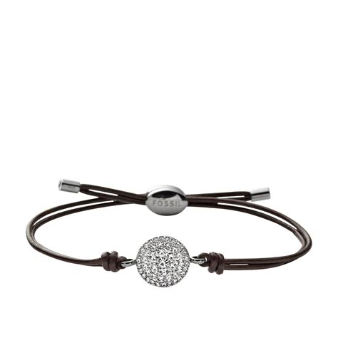 Fossil Bracelet fossil jf00117040 iconic leather bracelet in brown