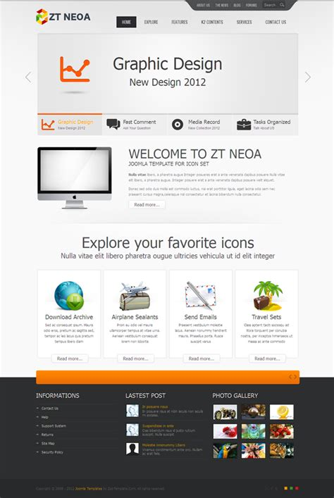 joomla html5 template zt neoa joomla template designed with html5 css3 web