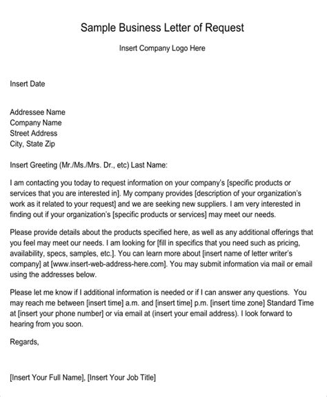 Business Letter Template Asking For Information how to write a business letter requesting information