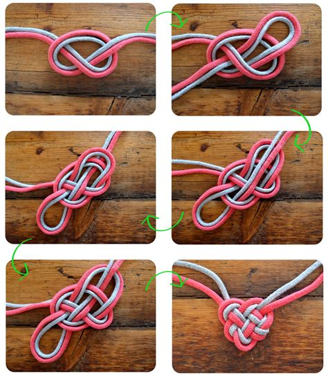 Tying Celtic Knots - diyheartknotnecklace